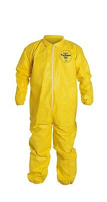 DuPont Tyvek Tychem QC125S Protective Chemical Hazmat Coverall Suit XL X-Large