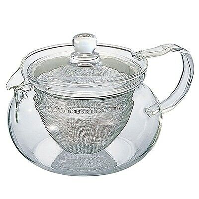 Hario 450 ml CHJMN-45T Fine Glass Teapot with Large Infuser F/S from Japan