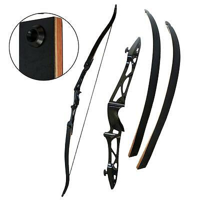 "30lbs Takedown Recurve Bow Right Hand 70"" Hunting Archery Longbow Alloy Riser"