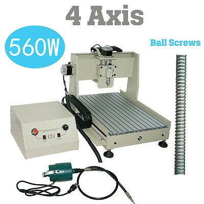 CNC 3040 Professional 4 AXIS Router Engraver PCB'S Routing Machine 560W  BEST
