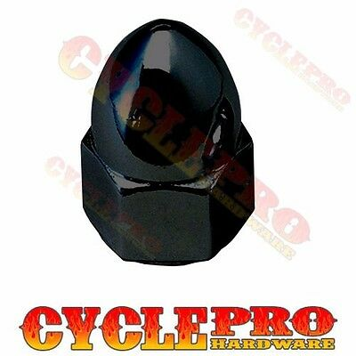 Gloss Black Horn Spike Acorn Nut For 91-15 Harley Touring Dyna Sportster Softail