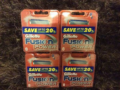 Gillette Fusion Power 32 Razor Cartridges 4 Pack X 8  Blades ( Bnib) + Free Gift