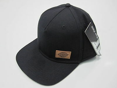 DICKIES - H.S Original 5 Panel Square Peak Black (OSFM) - CAP - NEW