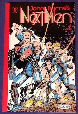 JOHN BYRNE'S NEXT MEN 1 January 1992 8.5-9.0 VF+/NM- DARK HORSE SIGNED MATT WEBB