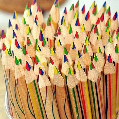 1/10/20pcs Colorful Rainbow Sketching Pencils 4 in 1 Color Drawing Painting Gift
