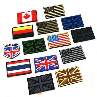 1PC Embroidered Nation Flag Country Emblem Patch Applique Sew Trim hot&new