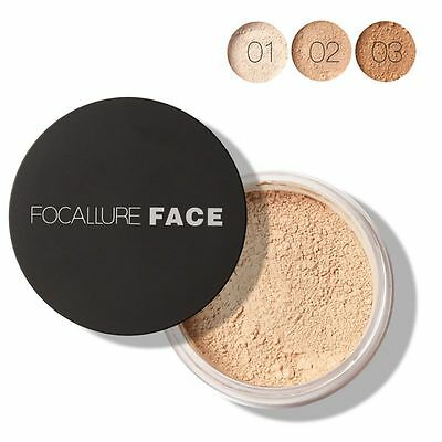 Face Makeup Finish Powder Waterproof Loose Smooth Powder Foundation Cosmetic HOT