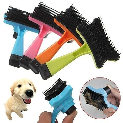 Pet Dog Cat Professional Hair Fur Shedding Trimmer Grooming Rake Comb Brush Tool