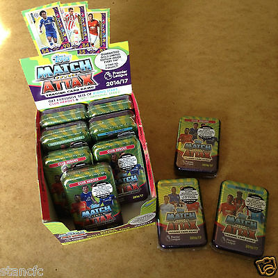 Topps Match Attax 2016/17 Trading Card MEGA TIN 60 CARDS EXCLUSIVE PLAYER SETS