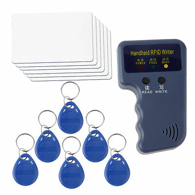 New Handheld RFID ID Card Copier/ Reader/Writer 6 Writable Tags/6 Cards SM