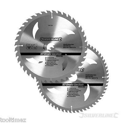 Pack of 2 TCT Circular Saw Blades 40, 60T  rip saw carbide table saws 991704