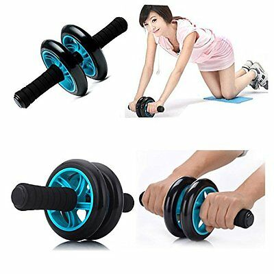 Dual ABS Abdominal Wheel AB Roller Exercise Fitness Equipment Workout GYM Q2S3