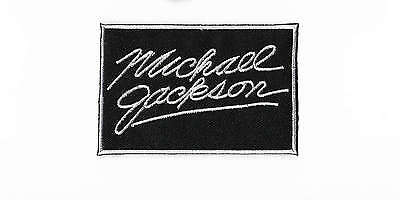 Michael Jackson Patch Embroidered Iron on Badge Applique MJ Autograph Costume