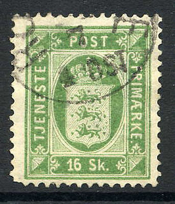 DENMARK 1871 Official 16 Skilling perf. 14x13½, used