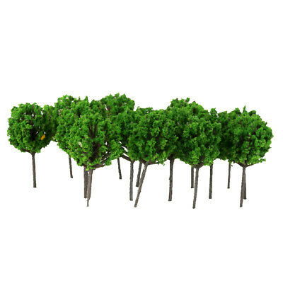 50pcs Light Green Model Trees 4cm for Z Scale Train Railway Wargame Layout DIY