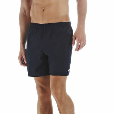 """Speedo Mens Shorts,Solid Leisure 16"""" Water Navy Blue Lined Trunks Swimmers 17780"""