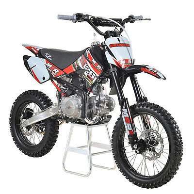 M2R Racing KM125MX 125cc 17/14 86cm Pit Dirt Bike Red Yellow MX Offroad