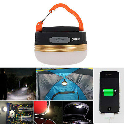 3W 300LM CREE LED USB Camping Outdoor Rechargeable Light Lantern Tent Lamp 6hrs