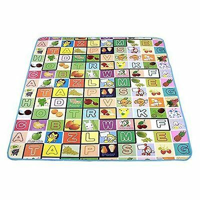 2 Side Kids Crawling Baby Educational Game Play Mat Soft Children Carpet Rug