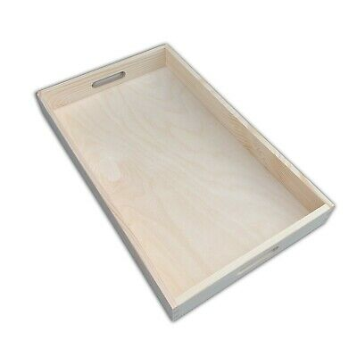 Wooden Serving Tray 50 cm x 30 cm x 6 cm For Decoupage