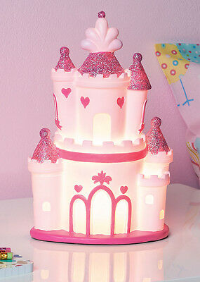 Brand New Lovely Pink Princess Castle Table Lamp Girls Kids Bedroom Night Light