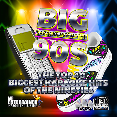 Mr Entertainer Big Karaoke Hits of the 90's. Double CD+G Disc Set. 40 Songs