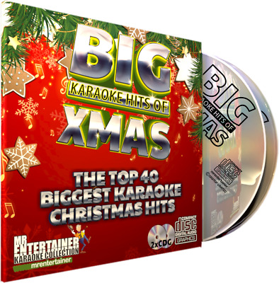 Mr Entertainer Big Karaoke Hits of Christmas. Double CD+G Disc Set. 40 Songs