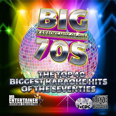 Mr Entertainer Big Karaoke Hits of the 70's. Double CD+G Disc Set. 40 Songs