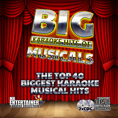 Mr Entertainer Big Karaoke Hits of Musicals. Double CD+G Disc Set. 40 Songs