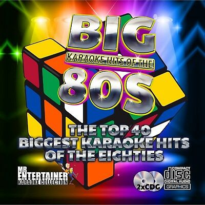 Mr Entertainer Big Karaoke Hits of the 80's. Double CD+G Disc Set. 40 Songs