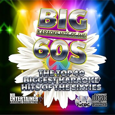 Mr Entertainer Big Karaoke Hits of the 60's (Sixties) Double CD+G/CDG Disc Set