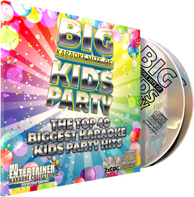 Mr Entertainer Big Karaoke Hits of Kids Party. Double CD+G Disc Set. 40 Songs