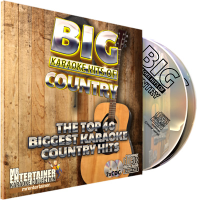 Mr Entertainer Big Karaoke Hits of Country. Double CD+G Disc Set. 40 Songs