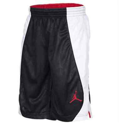 Jordan S Flight Basketball Shorts Black Red White $40 952501-023 Boys S M L XL