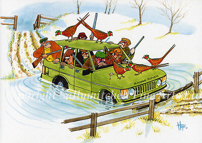 Funny Shooting Christmas Cards pack of 10 by Christopher Hope C383X