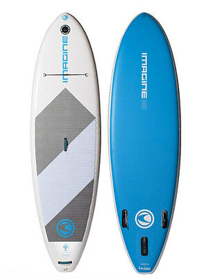 Imagine Icon 10 ft 2 in XLT Inflatable Stand Up Paddle Board - Blue/White - NEW