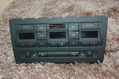 Audi A4 B6 B7 S4 RS4 Climate Control Panel Unit 2din With Heated Seats
