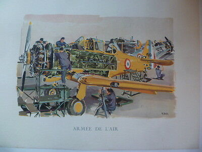 Affiche-Vintage Poster Armee De L'air~Atelier North American T-6 ~Yves Delfo--