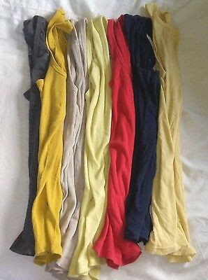Lot of 7 Juniors Womens Ribbed Tank Tops Gap Old Navy Calvin Klein Size Small