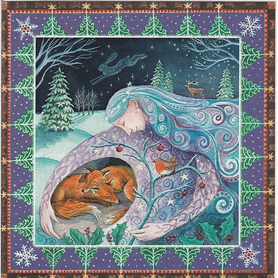 YULE XMAS GREETING CARD Mother Protection FOX PAGAN Wiccan SOLSTICE WENDY ANDREW