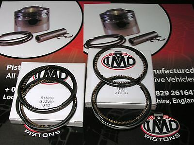 SUZUKI GSXR400 BANDIT GSF400 RF400R PISTON RINGS (4) NEW STD 56mm  R15239-00