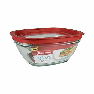 Rubbermaid Easy Find Lid Glass Food Storage Container, 8 Cup (2856006)