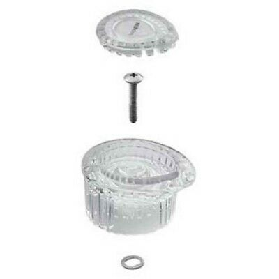 Moen100710 Posi-Temp 1-Handle Tub Shower Knob Handle Kit White and Chrome Insert