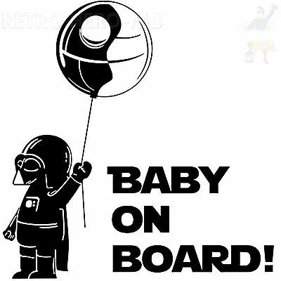 STAR WARS - Darth Vader - Baby On Board Vinyl Car Decal Sticker Auto Aufkleber