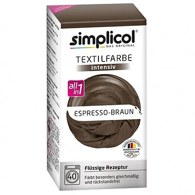 (5,30€/100ml) Simplicol Textilfarbe intensiv All-in-1 Espresso-Braun #1