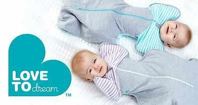 Love to Dream X 2 WINTER WARM Swaddle UP Wrap Baby Sleeping Bag FREE POSTAGE!!