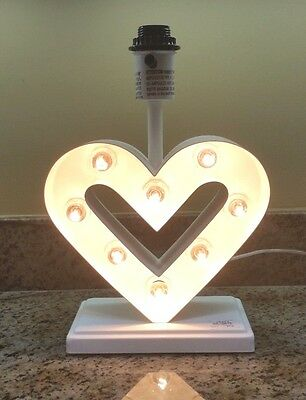 Pottery Barn Kids ~ Heart Marquee Complete Lamp ~ Brand New ~ 2 Available