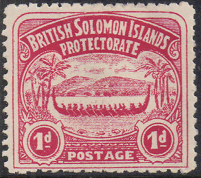 British Solomon Islands 1907 1d Rose-carmine Edward VII SG 2 Mint Hinged