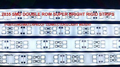 50cm Pure White Twin Row 72SMD 2835 Waterproof Aquarium LED Rigid Strip Bar Tube