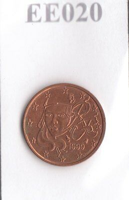 EE020 Moneta Coin FRANCIA: 1 Euro cent 1999